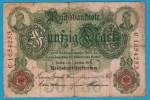DEUTSCHES REICH 50 MARK 7.02.1908  ALPHA C.1654253  SERIAL # 7 DIGITS - [ 2] 1871-1918 : German Empire