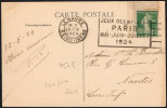 FRANCE LE HAVRE 13 V 1924 - OLYMPIC GAMES PARIS 1924 - MAILED POSTCARD: LE HAVRE - Estate 1924: Paris