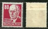 DDR 1952,  Nr. 340 V XI, Falz - DDR