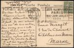 FRANCE PARIS 47 RUE LA BOETIE 7 VI 1924 - OLYMPIC GAMES PARIS 1924 - MAILED POSTCARD: CHEMIN DE FER DU NORD-SUD - Estate 1924: Paris