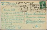 FRANCE PARIS DEPART 17 III 1924 - OLYMPIC GAMES PARIS 1924 - MAILED POSTCARD: MONTMORENCY - Estate 1924: Paris