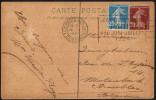 FRANCE PARIS RUE DE CLIGNANCOURT 14 V 1924 - OLYMPIC GAMES PARIS 1924 - MAILED POSTCARD: PANORAMA DE LA SEINE - Estate 1924: Paris