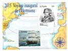 SAINT PIERRE ET MIQUELON - BLOC-FEUILLET - SOUVENIR SHEET - BATEAUX - SHIPS - VOYAGE INAUGURAL DE L'HERMIONE - 2015 - - Blocs-feuillets