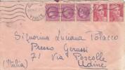 Lettre Envoyée De Vendée Pour L'Italie- Udine - Postmark Collection (Covers)
