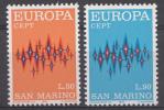 Saint-Marin 1972  Mi.nr.: 997-998  Europe   MNH / POSTFRIS / NEUF SANS CHARNIERE - Neufs