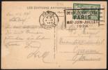 FRANCE PARIS DEPART 4 VI 1924 - OLYMPIC GAMES PARIS 1924 - MAILED POSTCARD: CONCORDE PLACE - Estate 1924: Paris