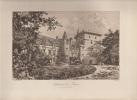 Gravure 1890 Eaux Forte Originale D´epoca Jura, Château De Rans (JB) - Estampes & Gravures