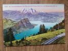 47908 POSTCARD: SWITZERLAND: Der Vierwaldstattersee Vom Rigi Aus Mit Pilatus Und Burgenstock. - Schweiz