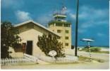 Johnston Island Kalama Atoll, Post Office, Tower And C-54 Airplane, C1950s/60s Vintage Postcard - Postcards