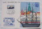 1989 GERMANY CARDS Sail Hamburg ´89 - 23.7. 1989 - 800 Jahre Hamburger Hafen - Ship - Marine - Ships