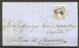 1871 , CORUÑA , CARTA CIRCULADA ENTRE EL FERROL Y ORTIGOSA DE CAMEROS , MAT. ROMBO DE PUNTOS. - 1868-70 Gobierno Provisional