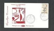 1963- Tunisia- International Red Cross Centennial/ Centenaire De La Croix-rouge Internationale- FDC - Croix-Rouge