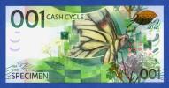 KBA Giori / KBA-NotaSys 001 Cash Cycle Specimen Test Note Switzerland 2010 Unc - Specimen