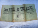 ANCIENNE PARTITION / LES SUCCES DE TINO ROSSI - Musique & Instruments