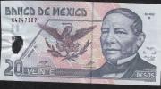 MEXICO  P116a  20 PESOS   13.5.2001   Folds   AVF NO P.h. ! - Mexico