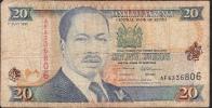 KENYA  P32  20  SHILLINGS  1.7.1995   FINE - Kenia