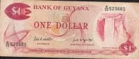 GUYANA  P21f  1  DOLLAR  1966  Signature 7 AVF NO P.h. ! ! - Guyana