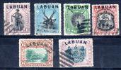 Labuan Surchargé Sur TP's De Nord-Borneo, Oblitéré, Selon Scan, Lot 43914 - North Borneo (...-1963)