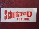 MINI HOTEL MOTEL GASTHOF SCHWEIZERHOF LUCERNE SUISSE SWITZERLAND SCHWEIZ STICKER DECAL LUGGAGE LABEL ETIQUETTE AUFKLEBER