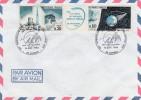 LETTRE AFFRANCHIE N° 1465 A - OBLITEREE CACHET COMMEMORATIF-55 ANNIVERSAIRE TRAVERSEE ATLANTIQUE SUD -69 CORBAS-1985