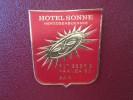 MINI HOTEL KURHAUS GASTHOF SONNE HERZOGENBUCH SUISSE SWITZERLAND SCHWEIZ STICKER DECAL LUGGAGE LABEL ETIQUETTE AUFKLEBER