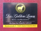 MINI HOTEL KURHAUS GASTHOF GOLDENE LAMM AALEN SUISSE SWITZERLAND SCHWEIZ STICKER DECAL LUGGAGE LABEL ETIQUETTE AUFKLEBER