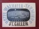 MINI HOTEL KURHAUS GASTHOF WALHALLA ST GALLEN SUISSE SWITZERLAND SCHWEIZ STICKER DECAL LUGGAGE LABEL ETIQUETTE AUFKLEBER
