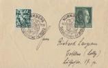 DR Brief Mif Minr.660,672 SST Nürnberg 8.9.38 - Briefe U. Dokumente