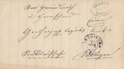 Baden Brief Postablagest. Säckingen-Rickenbach 24.4.1864 - Baden