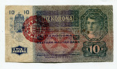 "Hongrie Hungary Ungarn Autriche Austria Overprint  """" MAGYARORSZAG """" 10 Kronen 1915 # 10 - Hongrie"