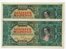 Hongrie Hungary Ungarn 100.000 MilPengo 1946 AUNC / UNC - 2 Consecutives - Hungary