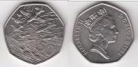 **** GRANDE-BRETAGNE - GREAT-BRITAIN - 50 PENCE 1994 50th ANNIVERSARY D-DAY Landings W *** EN ACHAT IMMEDIAT !!! - 1971-… : Monnaies Décimales