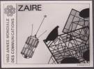 Zaïre 1984 COB 1227. Épreuve-photo, Année Mondiale Des Communications. Antenne Et Satellite De Communication - Astronomy