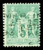 N°15, 5c Vert Surchargé 5 Lignes HORIZONTALE, Très Belle Qualité, R.R.R. Et TB (signé Brun/certificat)    Qualité: (*) - 1893-1947