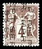 N°14, 4c Lilas-brun Surchargé 5 Lignes Vertical Sans Quantième, TTB (signé Brun/certificat)    Qualité: (*)  Cote: 800 E - 1893-1947