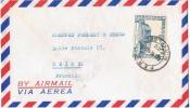 L-DIV 72 - PEROU N° 442 + PA 108 Sur Lettre Par Avion Pour La France - Peru