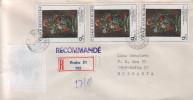 R- Envelope / Cover ) CZECH REPUBLIC/ BULGARIA  ( Flowers, Art ) - Tchéquie