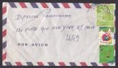 Venezuela: Airmail Cover To USA, 1963, 1 Stamp, 2 TB Cinderella Stamps (creases) - Venezuela