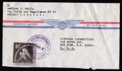 Venezuela: Airmail Cover To USA, 1963, Single Franking, Cycling, Sports (traces Of Use, Roughly Opened) - Venezuela