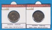 HISPANIA   VALENTIA (Valencia)  Semis  Cobre  (Del 127 Al 75 A.C.)  SC/UNC  Réplica   T-DL-11.382 - Antiguas