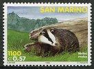 (cl. 5 - P.45) St Marin ** N° 1635 (ref. Michel Au Dos)  - Le Blaireau - - Unused Stamps