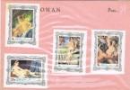 15016. Lote Filatelico OMAN State, Tematico ARTE, Art Nude,  Desnudos Varios º - Desnudos