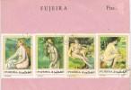 15017. Lote Filatelico FUJEIRA, Tematico ARTE, Art Nude,  Desnudos GHANTOUS º - Desnudos