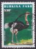Timbre Oblitéré N° 1051H(Yvert) Burkina Faso 1998 - Oiseau, Autruche - Burkina Faso (1984-...)