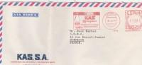 Espagne EMA Sur Lettre Avion KAS MANZANA Vitoria  31/10/1978 Pour Bordeaux France - Marcofilia - EMA ( Maquina De Huellas A Franquear)