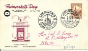 Denmark cover Stamp�s Day Copenhagen 13-11-1955 with cachet sent to Norway