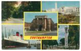 FRA CARTOLINA INGHILTERRA GRAN BRETAGNA ENGLAND GREAT BRITAIN  SOUTHAMPTON THE AVENUE, CIVIC CENTRE, OCEAN DOCK, PILGRIM - Southampton