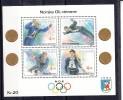 Norway 1992 Mi Nr Blok 17 Postfris Noorse Olympische Winnaars; Brenden,  Bergmann,  Eriksen , Slåttvik - Norvegia