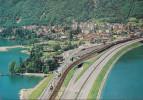 Schweiz - 6815 Melide - Seedamm -  Raillway Station - Train - TI Ticino