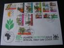 == Uganda Definitive FDC 1969 - Uganda (1962-...)